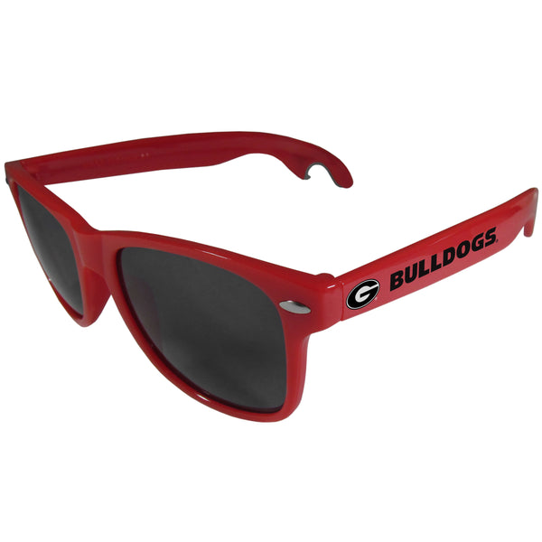 Georgia Bulldogs Beachfarer Bottle Opener Sunglasses, Red