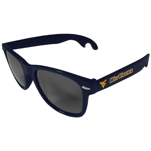 W. Virginia Mountaineers Beachfarer Bottle Opener Sunglasses, Dark Blue