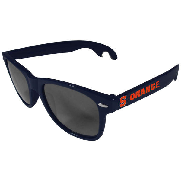 Syracuse Orange Beachfarer Bottle Opener Sunglasses, Dark Blue