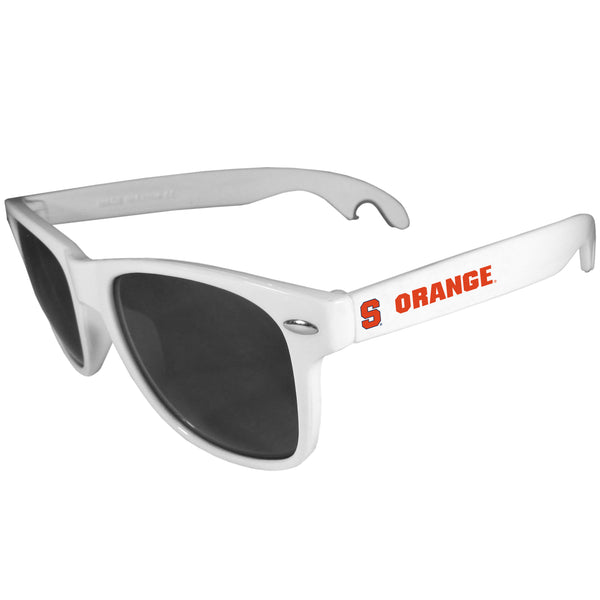 Syracuse Orange Beachfarer Bottle Opener Sunglasses, White