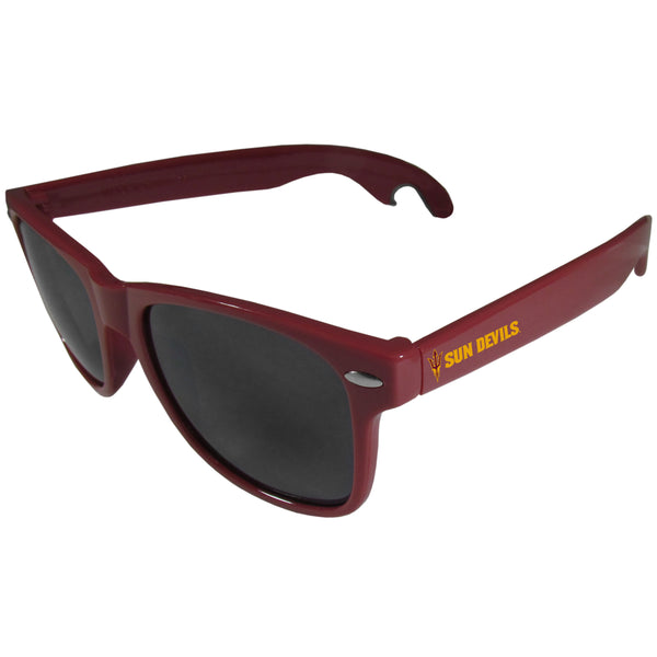 Arizona St. Sun Devils Beachfarer Bottle Opener Sunglasses, Maroon