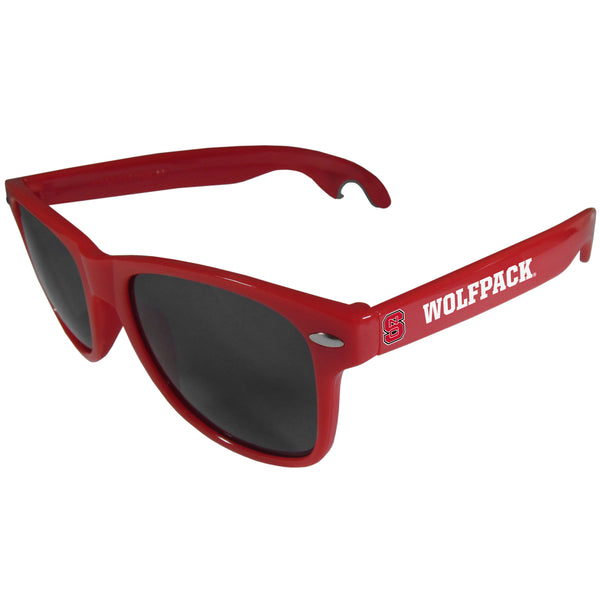 N. Carolina St. Wolfpack Beachfarer Bottle Opener Sunglasses, Red