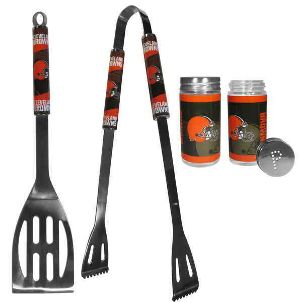 Cleveland Browns 2pc BBQ Set with Tailgate Salt & Pepper Shakers