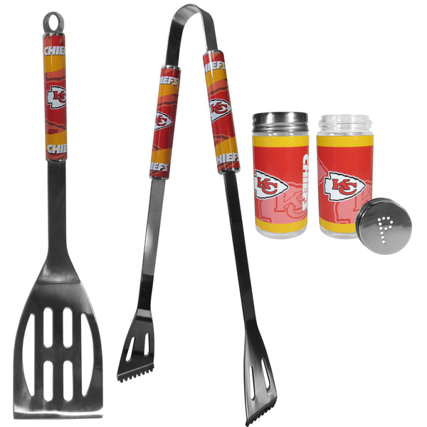 Kansas City Chiefs 2pc BBQ Set with Tailgate Salt & Pepper Shakers