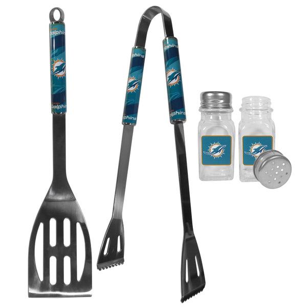 Miami Dolphins 2pc BBQ Set with Salt & Pepper Shakers