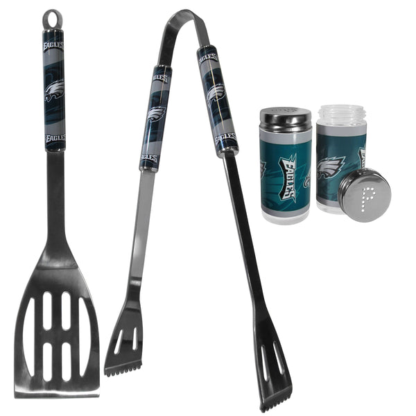 Philadelphia Eagles 2pc BBQ Set with Tailgate Salt & Pepper Shakers