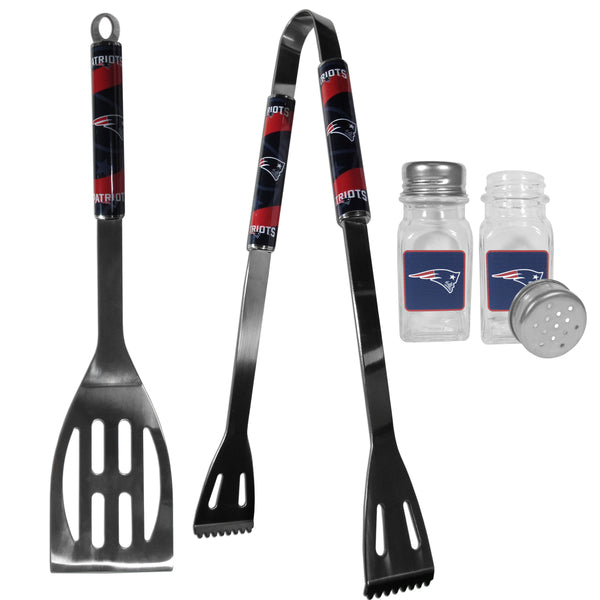 New England Patriots 2pc BBQ Set with Salt & Pepper Shakers