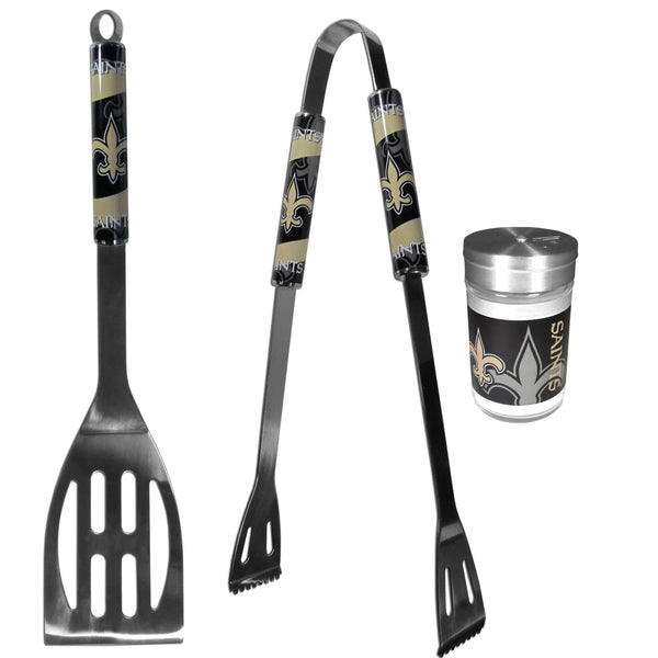 New Orleans Saints 2pc BBQ Set with Season Shaker
