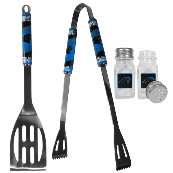 Carolina Panthers 2pc BBQ Set with Salt & Pepper Shakers