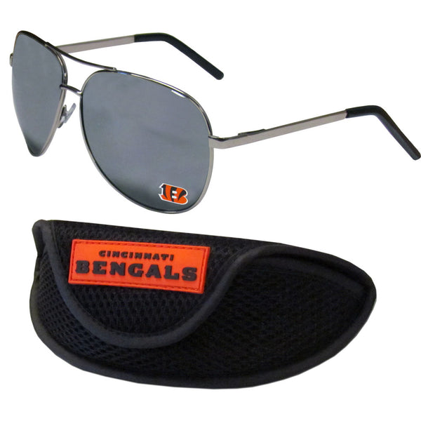 Cincinnati Bengals Aviator Sunglasses and Sports Case