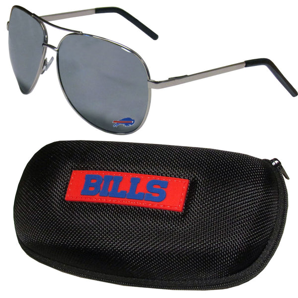 Buffalo Bills Aviator Sunglasses and Zippered Carrying Case