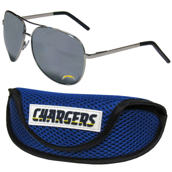 Los Angeles Chargers Aviator Sunglasses and Sports Case