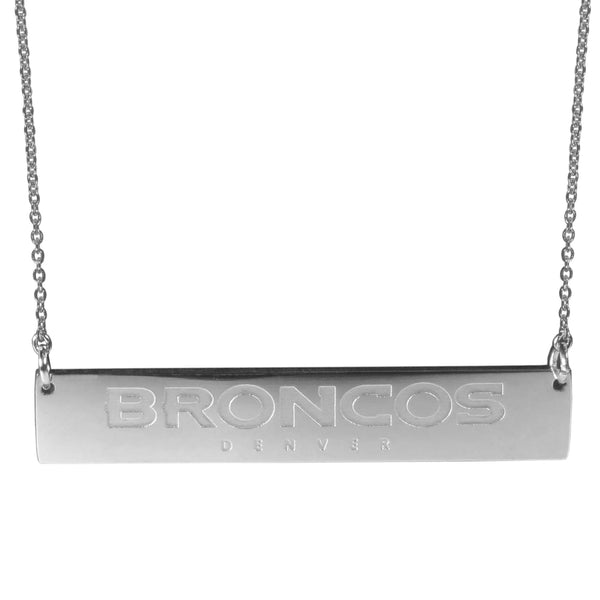 Denver Broncos Bar Necklace