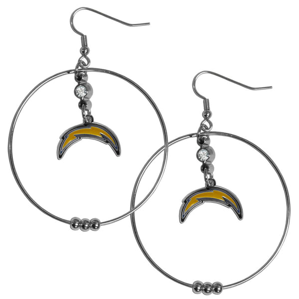 Los Angeles Chargers 2 Inch Hoop Earrings