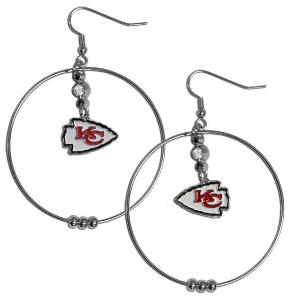 Kansas City Chiefs 2 Inch Hoop Earrings