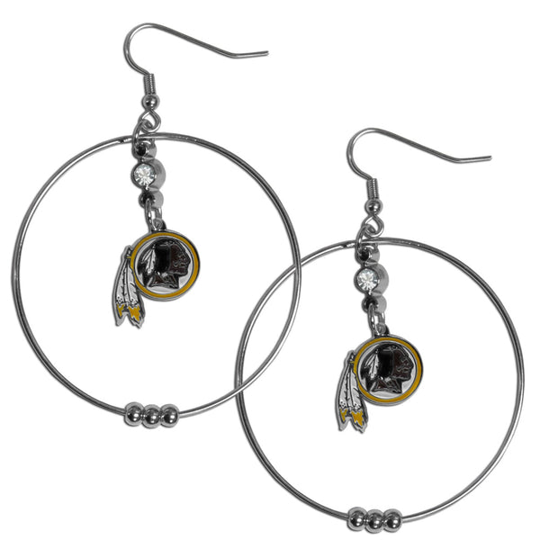 Washington Redskins 2 Inch Hoop Earrings