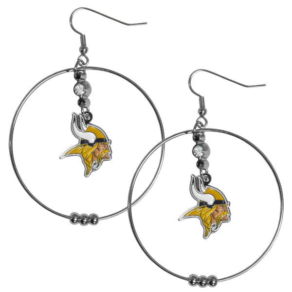 Minnesota Vikings 2 Inch Hoop Earrings
