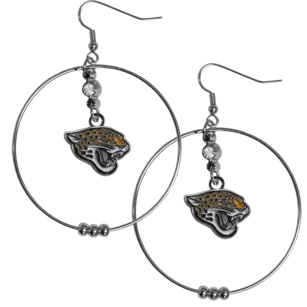 Jacksonville Jaguars 2 Inch Hoop Earrings
