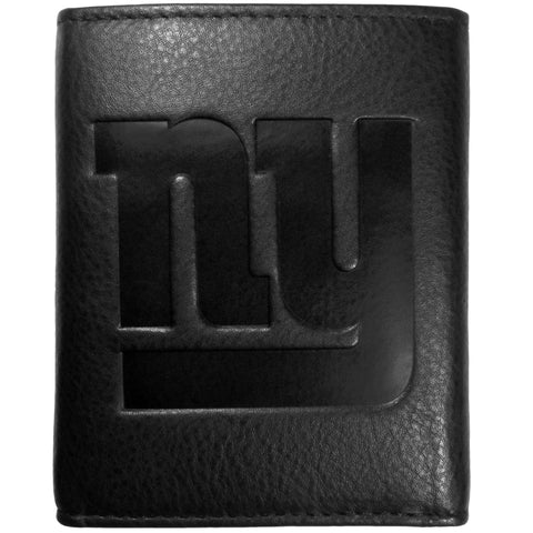 New York Giants Embossed Leather Tri-fold Wallet