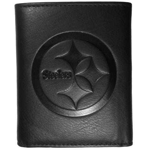 Pittsburgh Steelers Embossed Leather Tri-fold Wallet