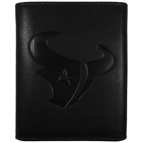 Houston Texans Embossed Leather Tri-fold Wallet