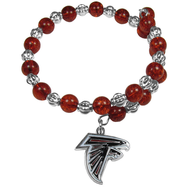 Atlanta Falcons Bead Memory Wire Bracelet