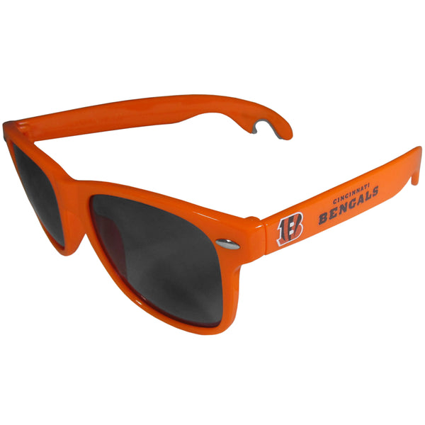 Cincinnati Bengals Beachfarer Bottle Opener Sunglasses, Orange