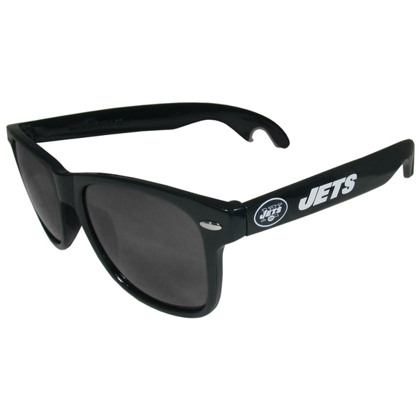 New York Jets Beachfarer Bottle Opener Sunglasses, Dark Green