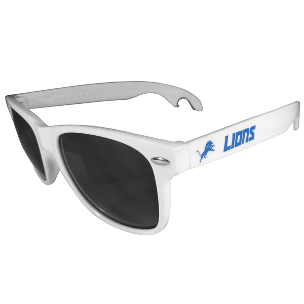 Detroit Lions Beachfarer Bottle Opener Sunglasses, White