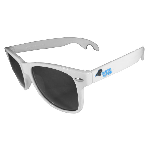 Carolina Panthers Beachfarer Bottle Opener Sunglasses, White