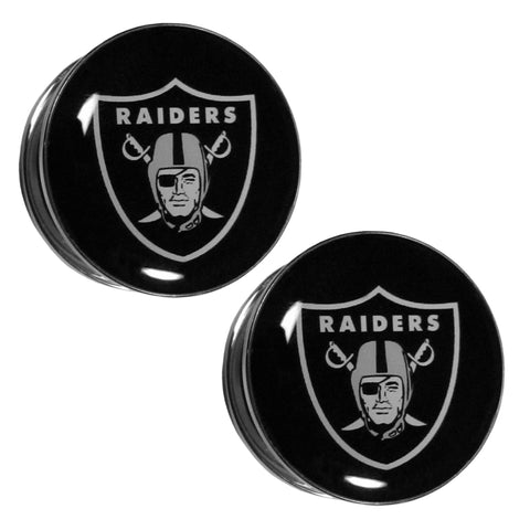 Oakland Raiders Ear Gauge Pair 1 Inch
