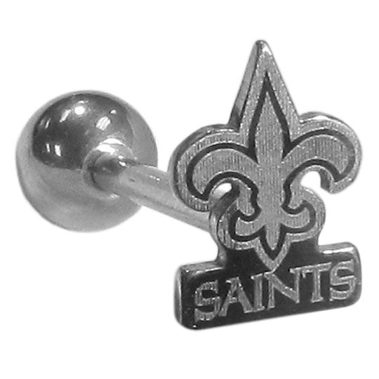New Orleans Saints Barbell Tongue Ring