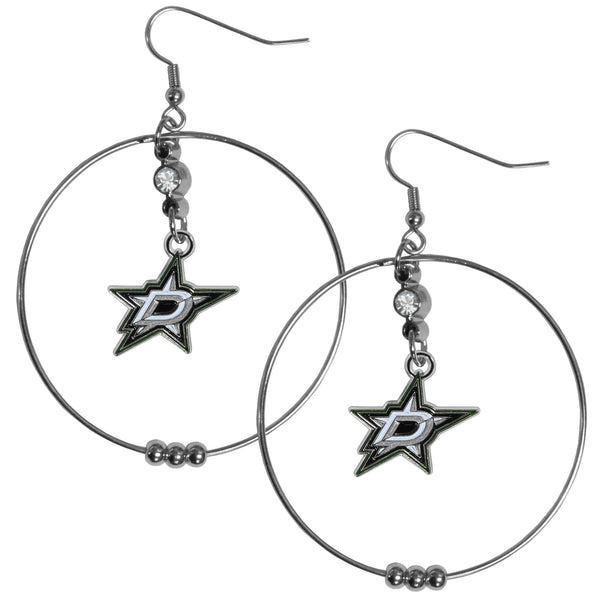 Dallas Stars™ 2 Inch Hoop Earrings