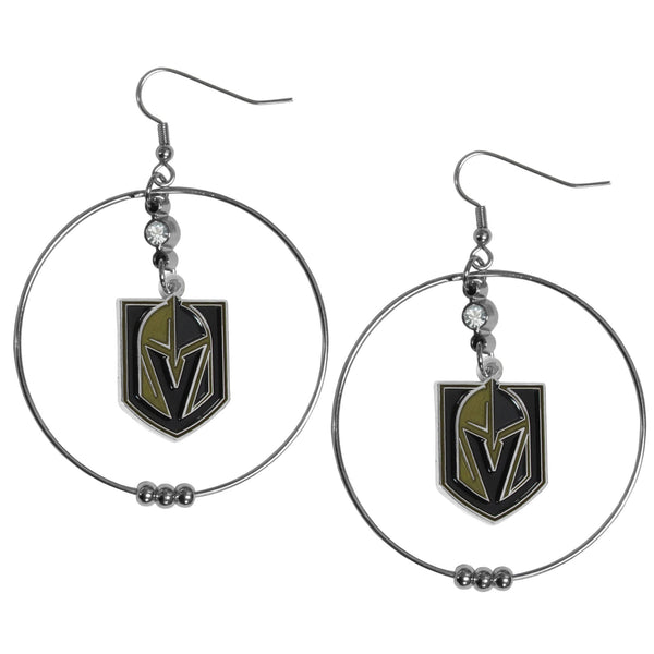 Las Vegas Golden Knights® 2 Inch Hoop Earrings