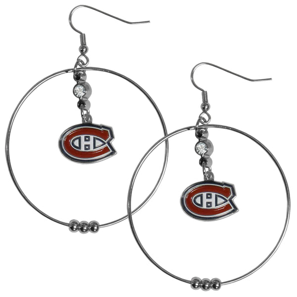 Montreal Canadiens® 2 Inch Hoop Earrings