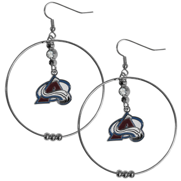 Colorado Avalanche® 2 Inch Hoop Earrings