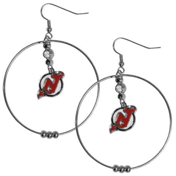 New Jersey Devils® 2 Inch Hoop Earrings