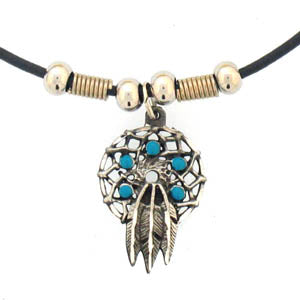 Dream Catcher Adjustable Cord Necklace