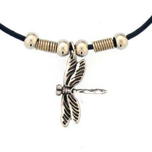 Dragonfly Adjustable Cord Necklace