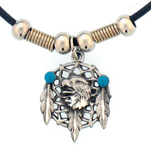 Eagle Dream Catcher Adjustable Cord Necklace