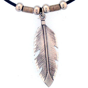 Feather Adjustable Cord Necklace