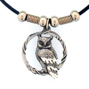 Owl Adjustable Cord Necklace