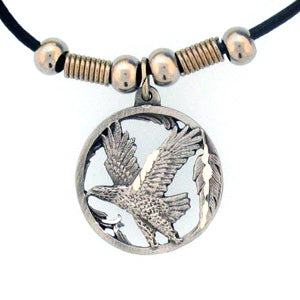Flying Eagle Adjustable Cord Necklace