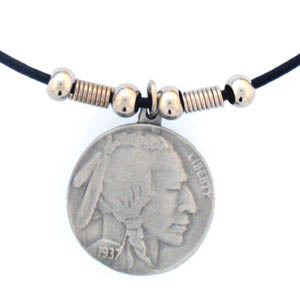 Indian Head Nickel Adjustable Cord Necklace