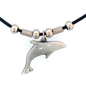 Dolphin Adjustable Cord Necklace