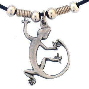 Lizard Adjustable Cord Necklace