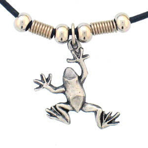 Frog Adjustable Cord Necklace
