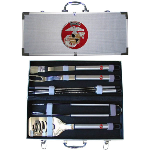 "Marines ""Semper Fi"" 8 pc BBQ Set w/Case"
