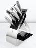 8-Piece Modern Stainless Steel Knife + Block Set