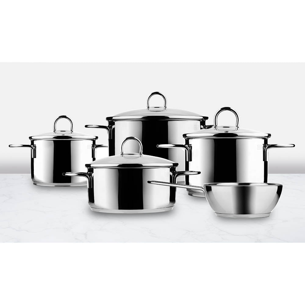 Classic 9 Piece Stainless Steel Cooking Set